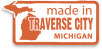 Made in Traverse City, Michigan.